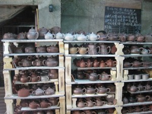 Yixing teapots at small kiln SNAP
