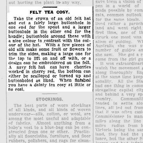 1933 mens hat fedora as tea cozy