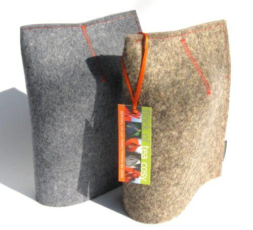 Modern mug cosies in industrial wool felt