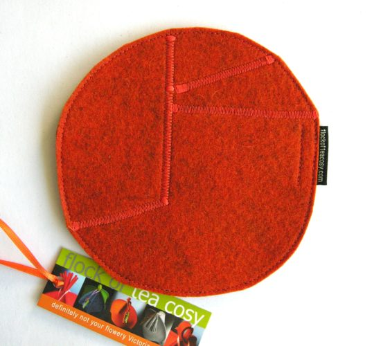 Trivet for teapot in Burnt Orangewool felt