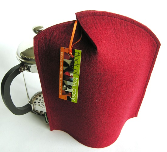 Cosy for 8cup Bodum Chambord in Mulberry Red