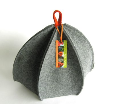 Modern expandable tea cozy in industrial wool felt
