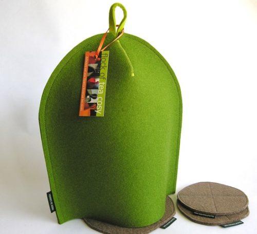 Modern Bodum cozy in Moss Green