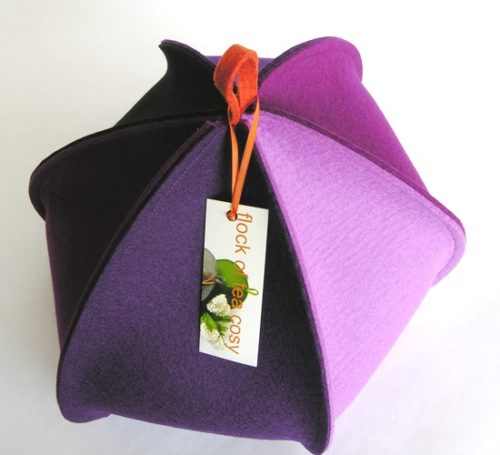 Colourful modern tea cosy for large teapot