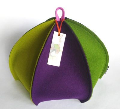 Standard 4cup tea six sided colourful tea cosy in wool felt