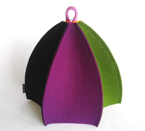 Moder six sided expandable wool felt tea cozy