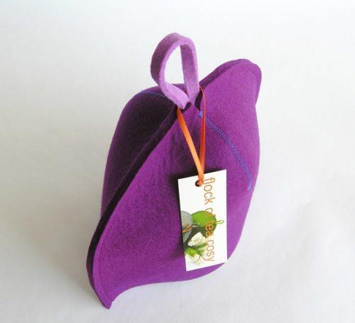 2cup tea cosy in minimalist designer modern clean design wool felt