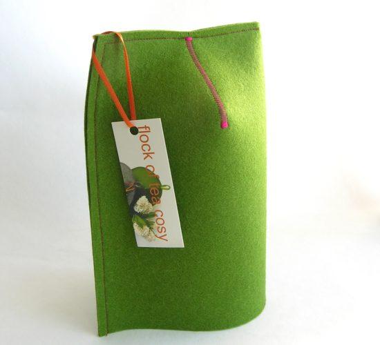 20oz Mug Cozy in wool felt Moss Green