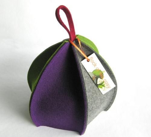 Minimalist modern woold felt tea cosy