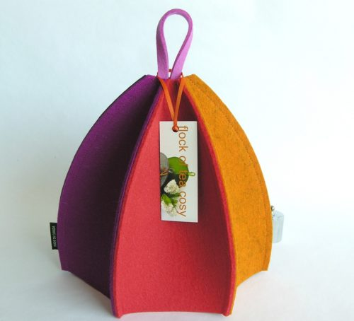 colourful thick wool felt modern minimalist wool felt tea cozy by flockofteacosy